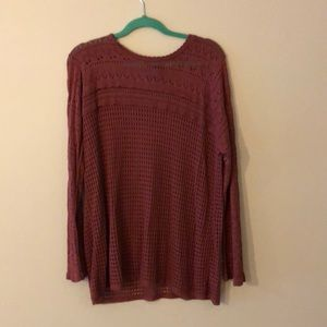 Absolutely creative worldwide 2x mauve sweater new